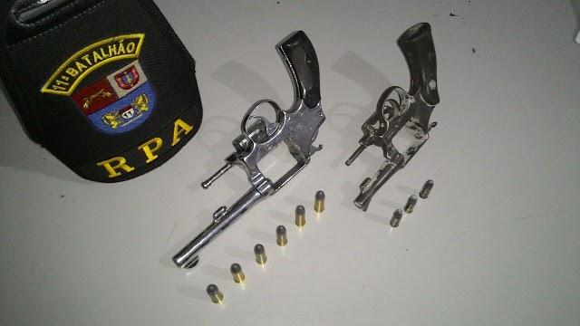Posse irregular de arma de fogo em Roncador