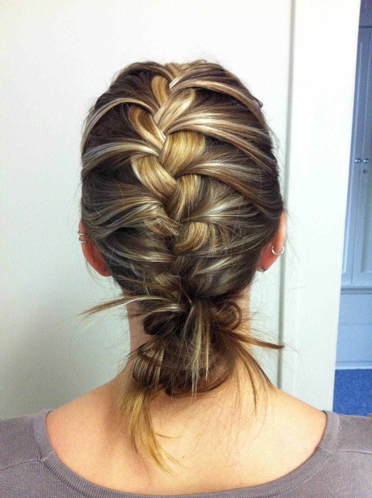 bye bye beehive a hairstyle blog: french braid a la bun.