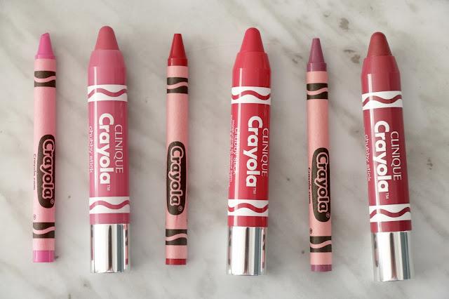 clinique crayola lip crayons