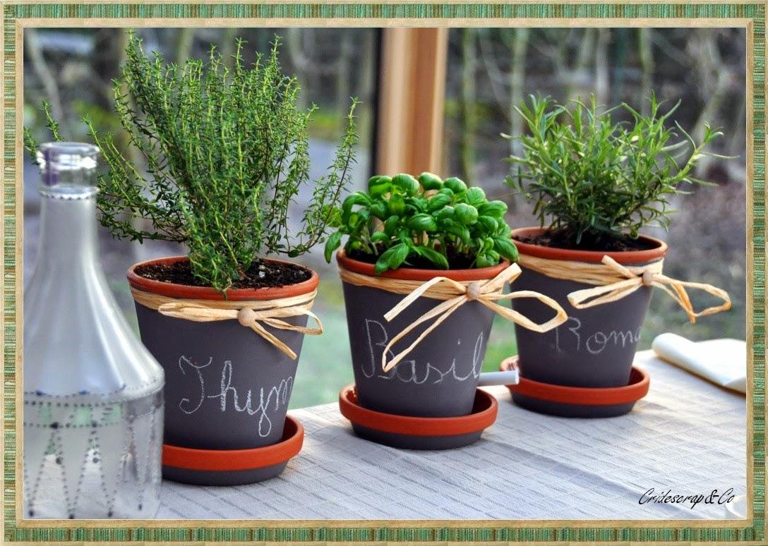 la boutique deco de cridescrap co cache pot en terre cuite herbe aromatique. Black Bedroom Furniture Sets. Home Design Ideas