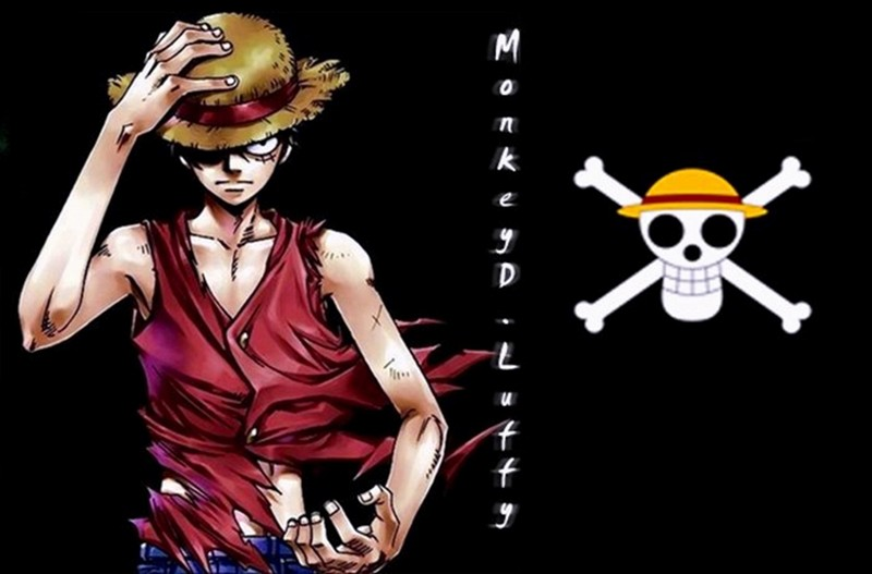 Monkey D Luffy With Black Background
