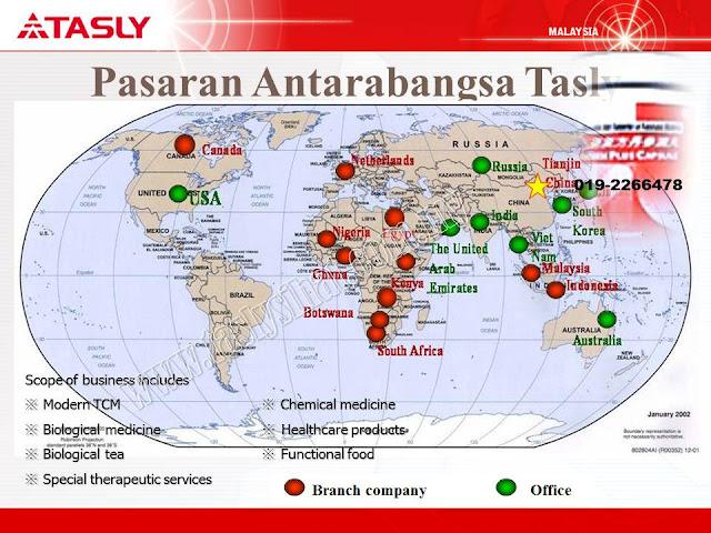 pasaran antarabangsa Tasly