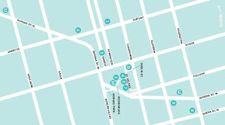 Art Toronto's West-End Gallery Hop Map, Friday, October 27, 2017