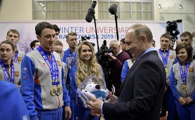 Vladimir Putin, sportsmen.
