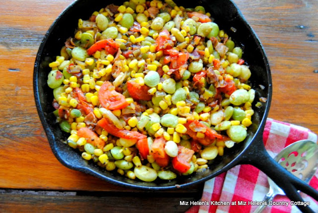 Skillet Succotash at Miz Helen's Country Cottage