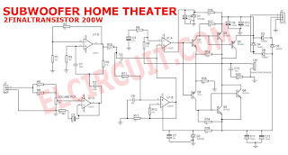 Schematic Diagram of Subwoofer Home Theater Circuit