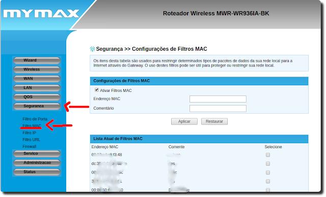 Como bloquear usuário no roteador Mymax