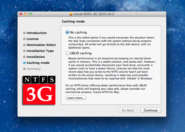 Enable writing to NTFS hard drives for free in Mac OS X (including