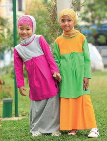 Foto Busana Muslim Gamis Untuk Anak Perempuan