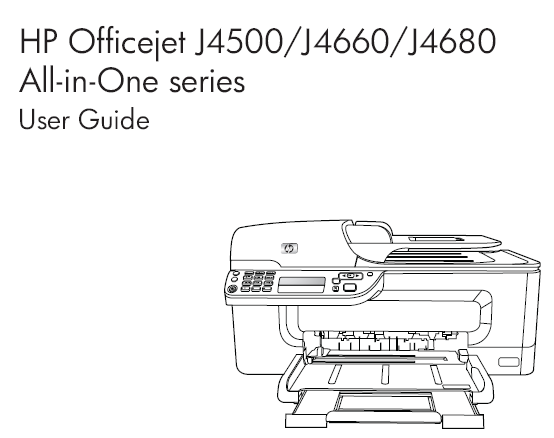 HP OFFICEJET J4580 USER MANUAL