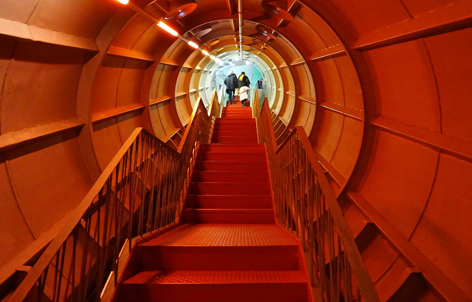 week-end à Bruxelles Atomium intérieur