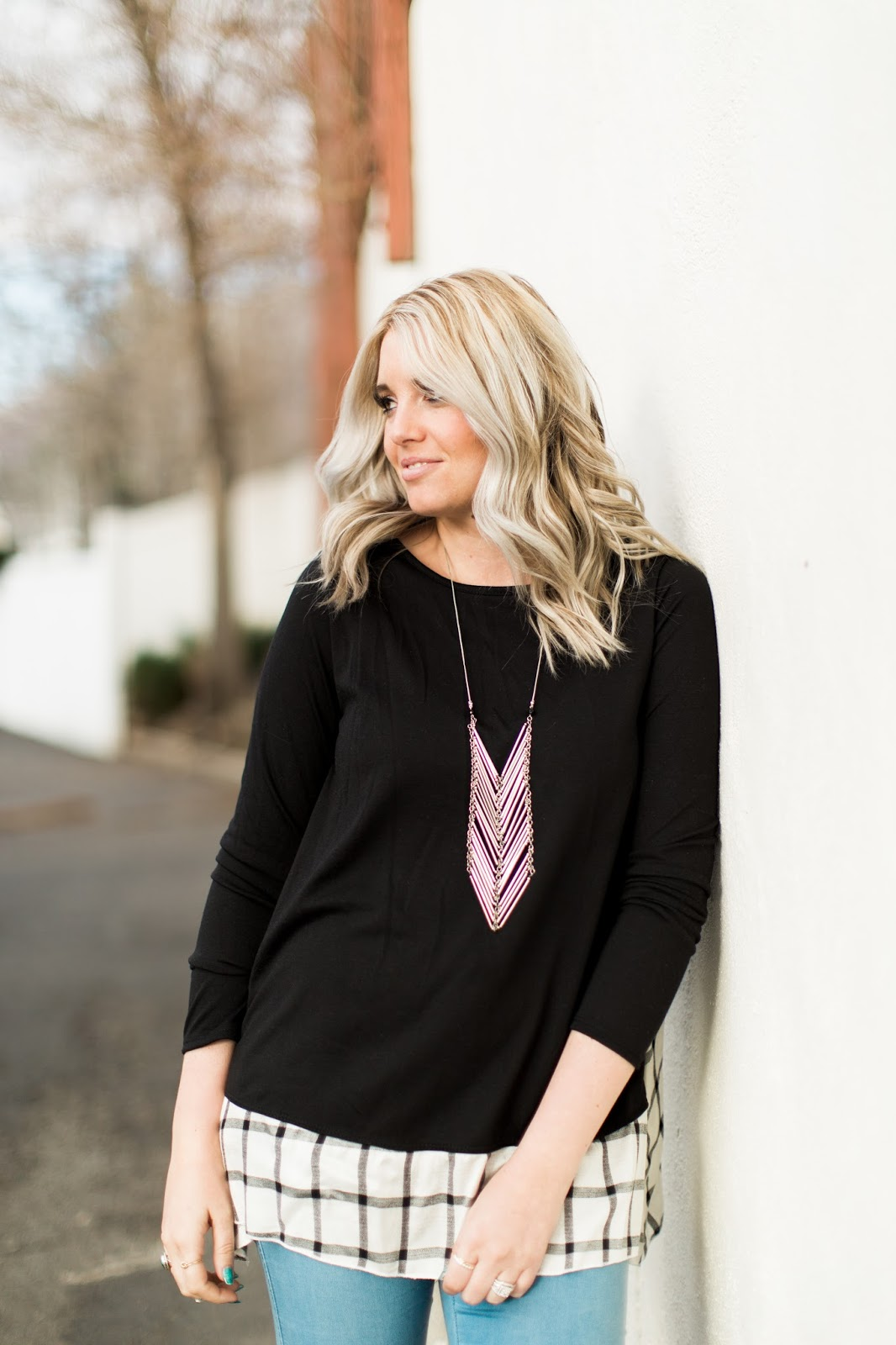 Jane.com, Lightweight Top, Fun Necklace
