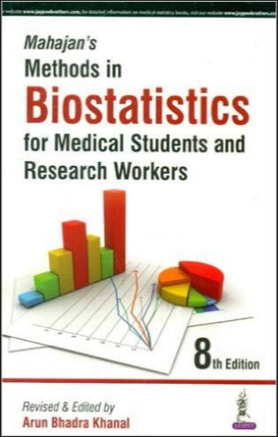 Mahajan's Methods in Biostatistics for Medical Students and Research Workers 8th Edition (2016) [PDF]