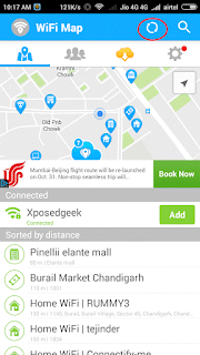 Showing nearby location wifi