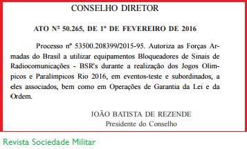 decreto anatel bloqueio de celulares no BRASIL