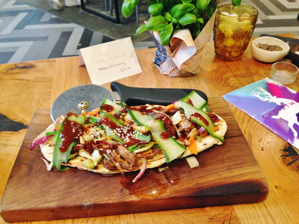 duck flatbread nibbles sharing board
