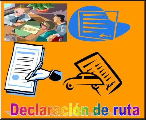 FORMATO DE DECLARACION RUTA HABITUAL