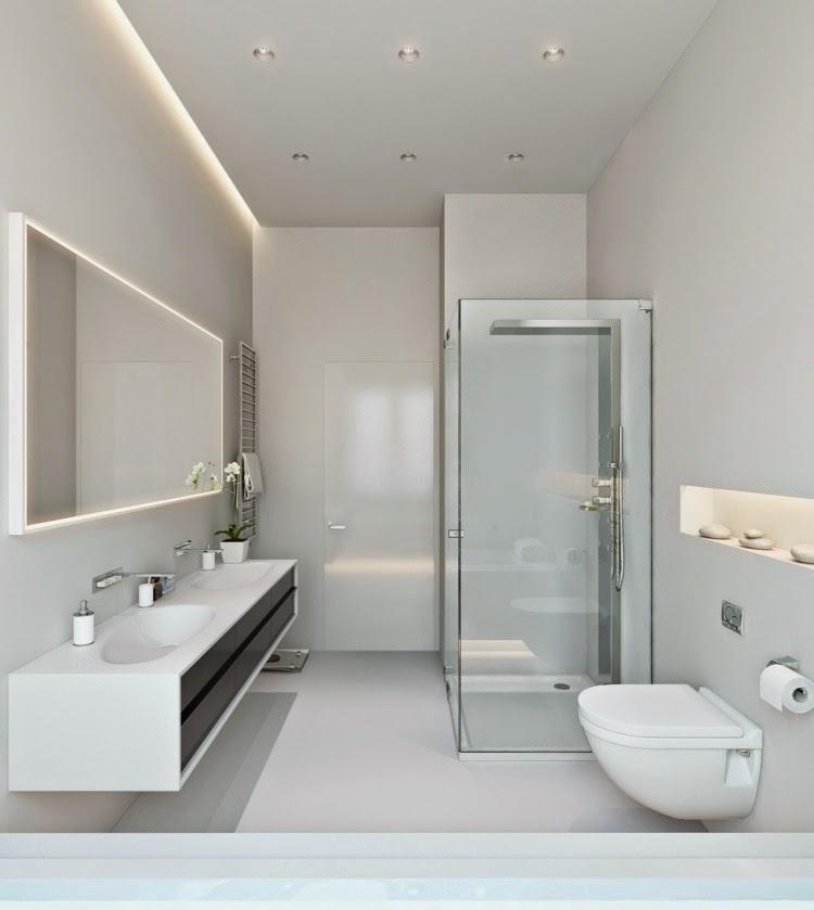 Elegant modern bathroom lighting ideas: LED bathroom lights