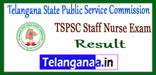 TSPSC Telangana State Public Service Commision Staff Nurse syllabus 2017 Result