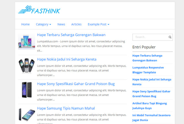 Fasthink2 SEO Responsive Blogger Templates