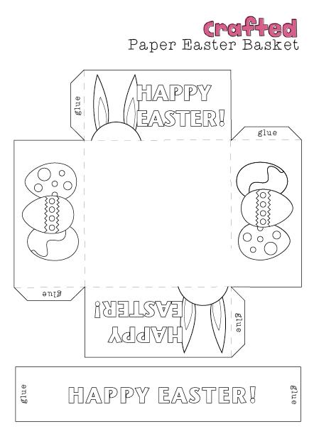 Easter Templates Basket Craft