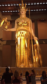Athena statue at the Parthenon replica.