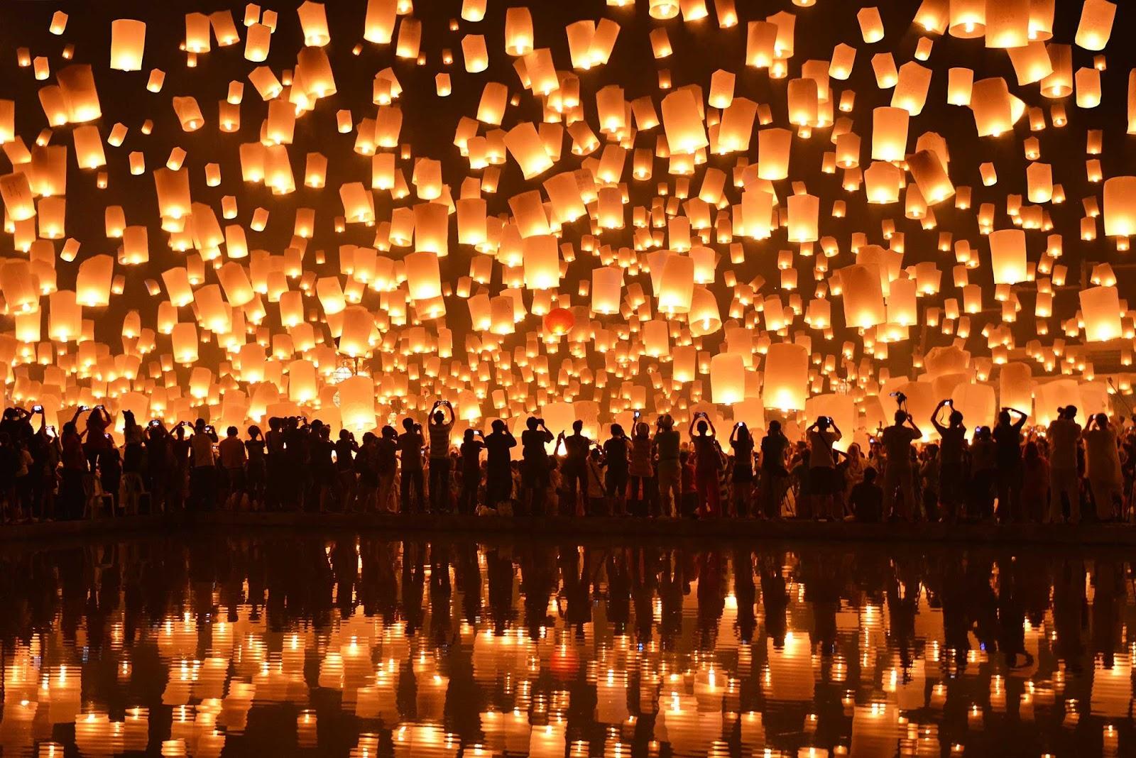 Празднование Китайского Нового года на пляже бухты Дадунхай
