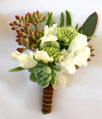 fall themed boutonniere