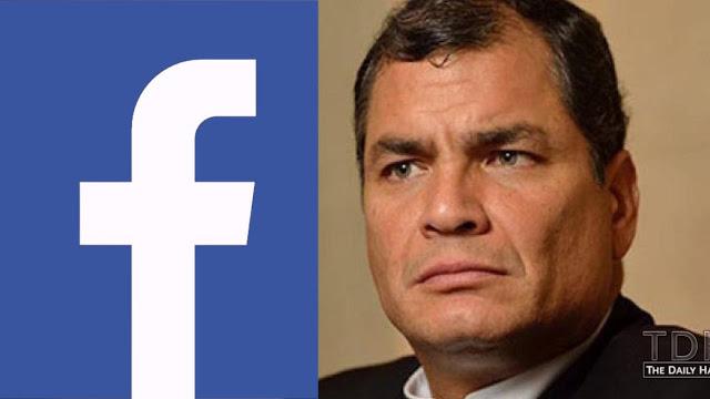 Facebook cerro fanpage de Rafael Correa
