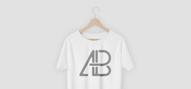 free mockup shirt hanger