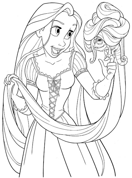 Printable Disney Princess Coloring Pages Rapunzel
