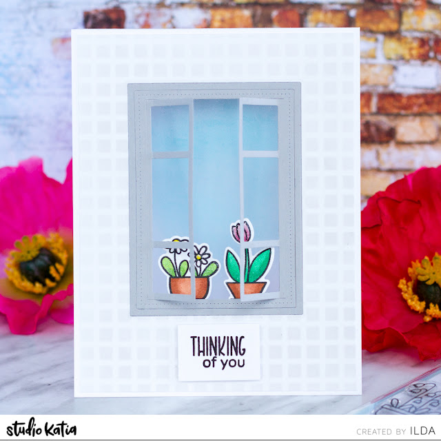 Thinking of you Window Card for Studio Katia Blog Hop by ilovedoingallthingscrafty.com