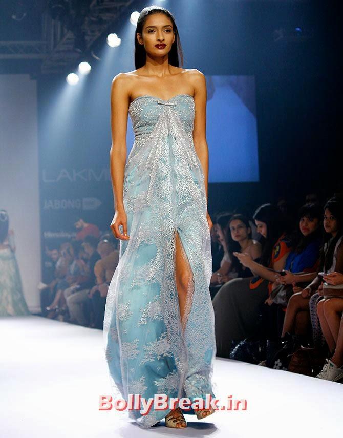 Dayana Erappa in a Shehla Khan creation, Shruti Hassan Pics in Bridal Dress from Lakme Fashion Week