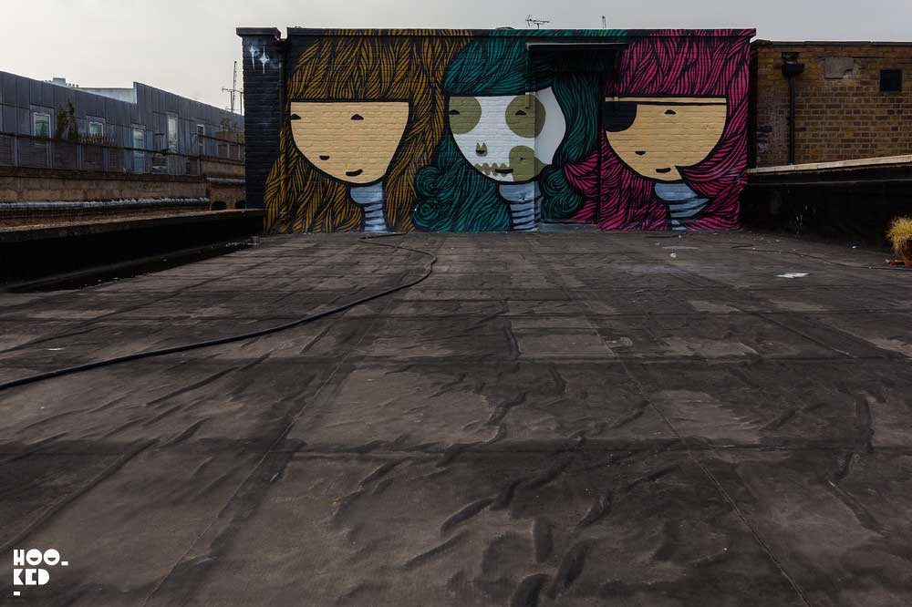 'Triple Goddess' London Mural by Kid Acne for Jealous Gallery's Rooftop Mural Project