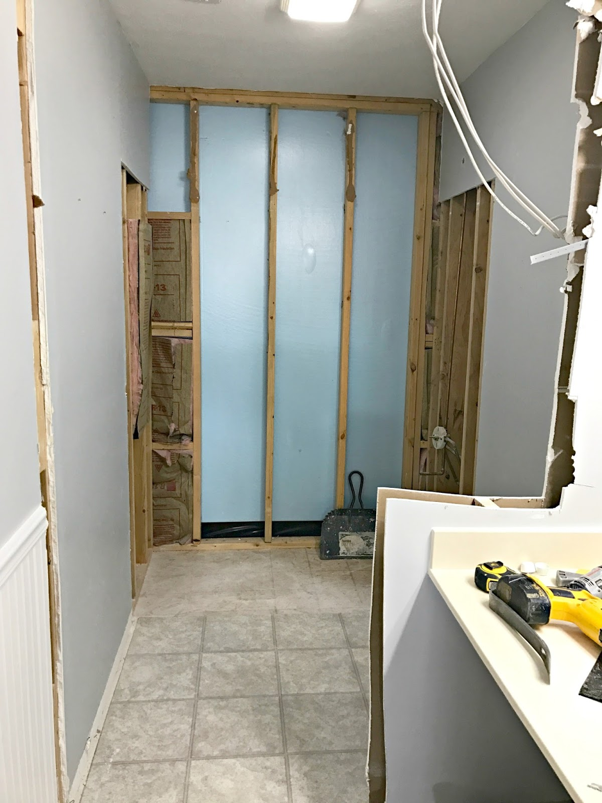 Big Bathroom Renovation Progress From Thrifty Decor Chick