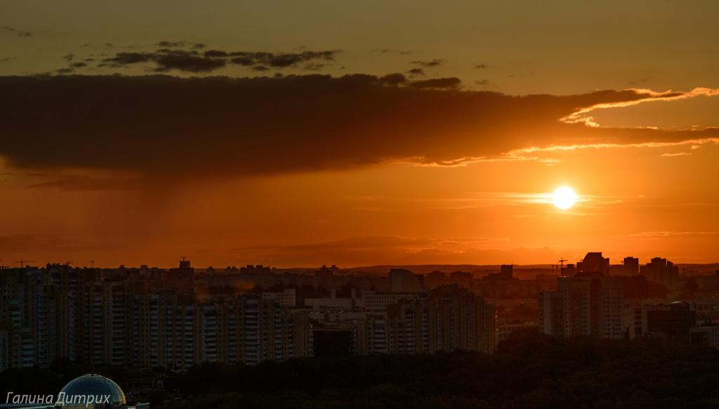 Закат над Минском фото