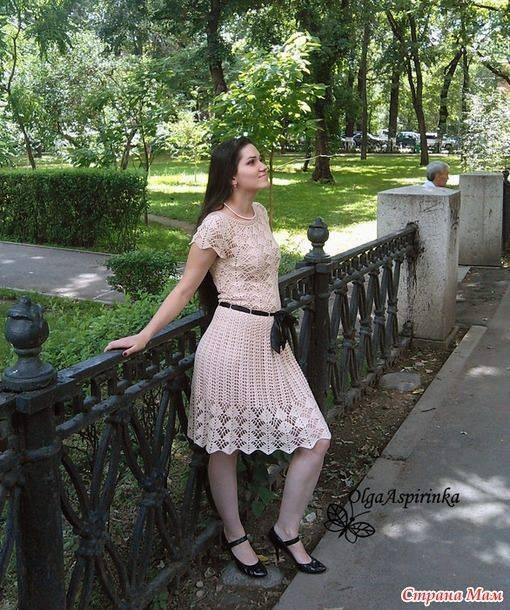 Patrón #1452: Vestido a Crochet