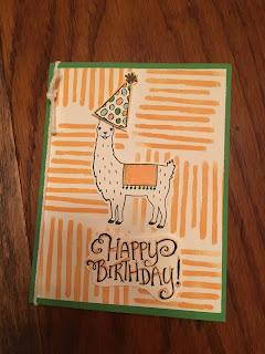 Birthday Fiesta llama card