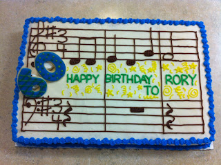 The Man Whose Birthday It Was Composes Writes Music For A Living So Thats Why Cake Is Themed Notes Are Actually Happy