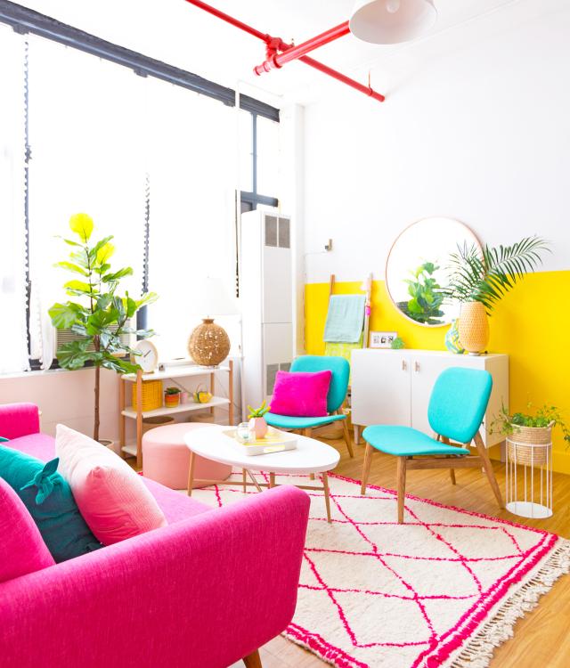 Home tour a todo color en una casa de Instagram