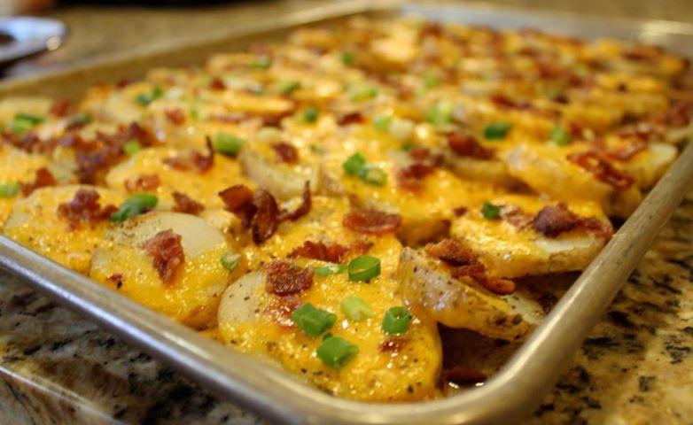 Sprinkle Some Sunshine Cheesy Bacon Potato Bites Party