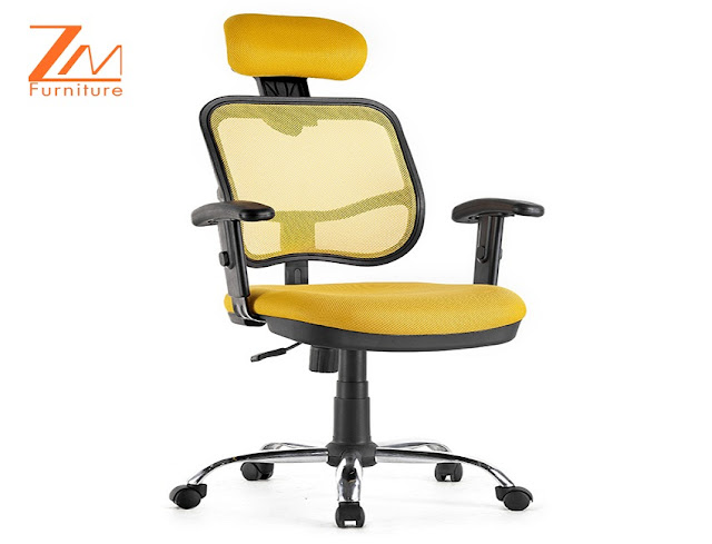 buy best small ergonomic office chair yellow for sale