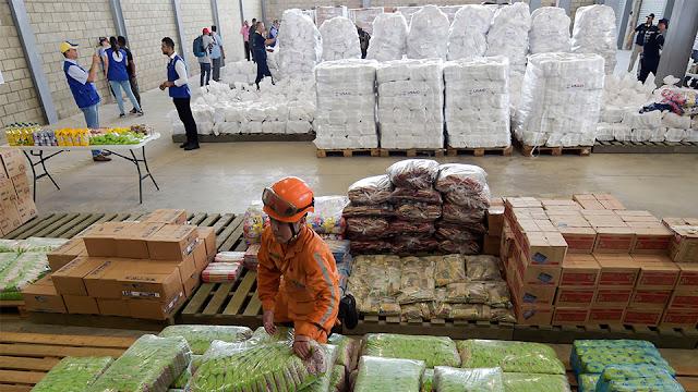 Esperan hasta el sábado recolectar 500 toneladas de ayuda solamente en Cúcuta para Venezuela.