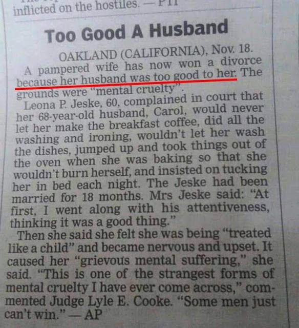 Look At The Silly Reason a Woman Gave for Divorcing his Husband