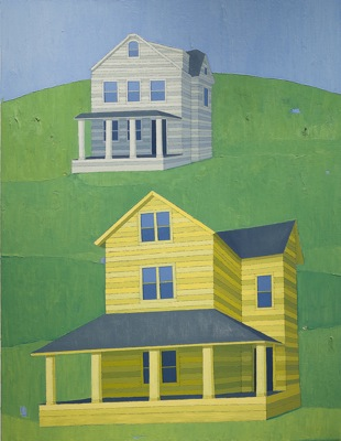 Two Houses, 2011 por Scott Redden - Oil on linen