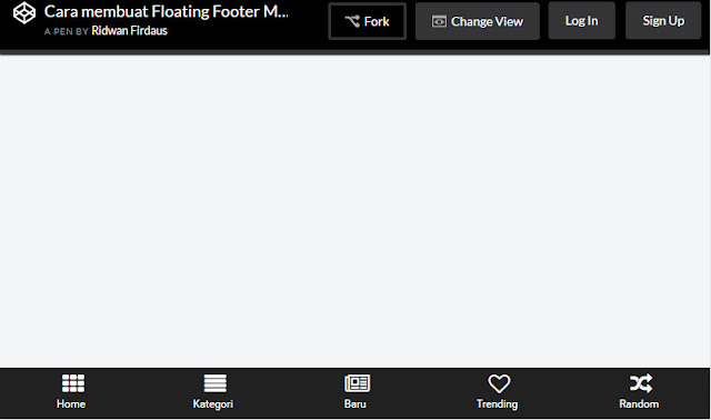 Cara membuat Floating Footer Menu di Blog Ala Babe News