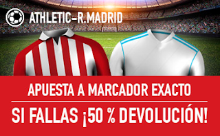 sportium promocion Athletic vs Real Madrid 2 diciembre