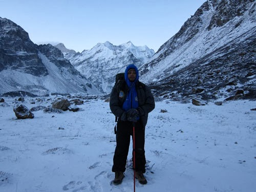 Trekking guide Nepal in Kanchenjunga base camp