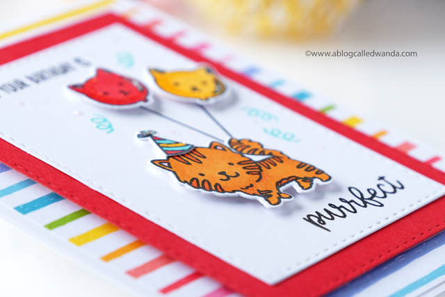 Sunny Studio Stamps: Breakfast Puns Purrfect Birthday Clean Simple Cards by Wanda Guess