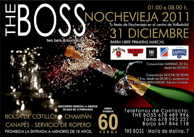 Fiesta de Nochevieja 2011 Valladolid The Boss Bar de Copas